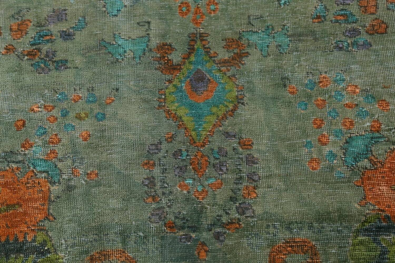 Antique Over-Dyed Distressed Tabriz Persian Area Rug 6x9 image 8