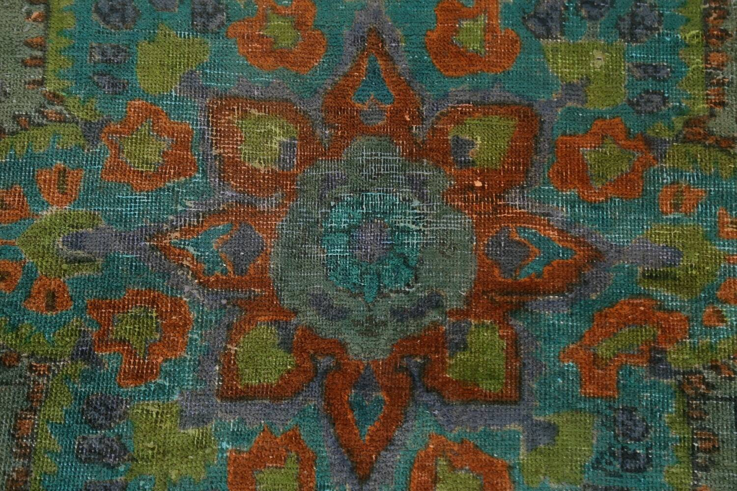 Antique Over-Dyed Distressed Tabriz Persian Area Rug 6x9 image 9