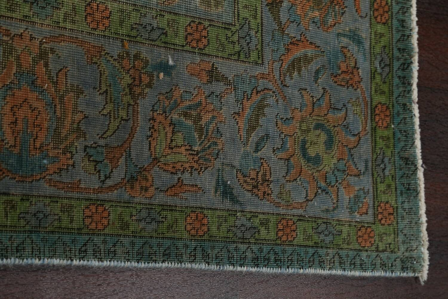 Distressed Over-Dyed Tabriz Persian Area Rug 8x11 image 10