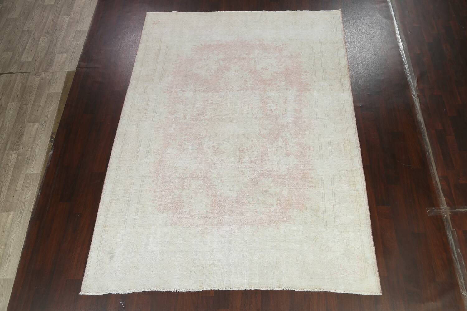 Antique Muted Distressed Kerman Persian Area Rug 8x11 image 2