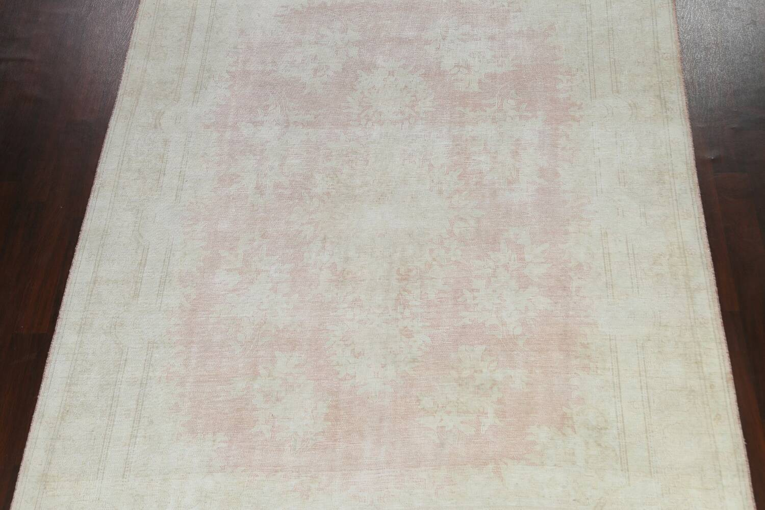 Antique Muted Distressed Kerman Persian Area Rug 8x11 image 3