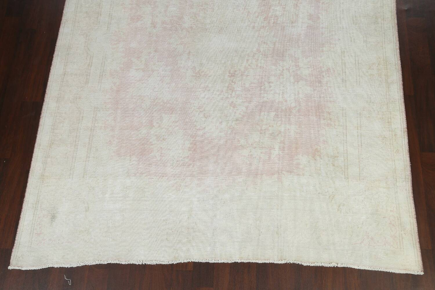Antique Muted Distressed Kerman Persian Area Rug 8x11 image 5