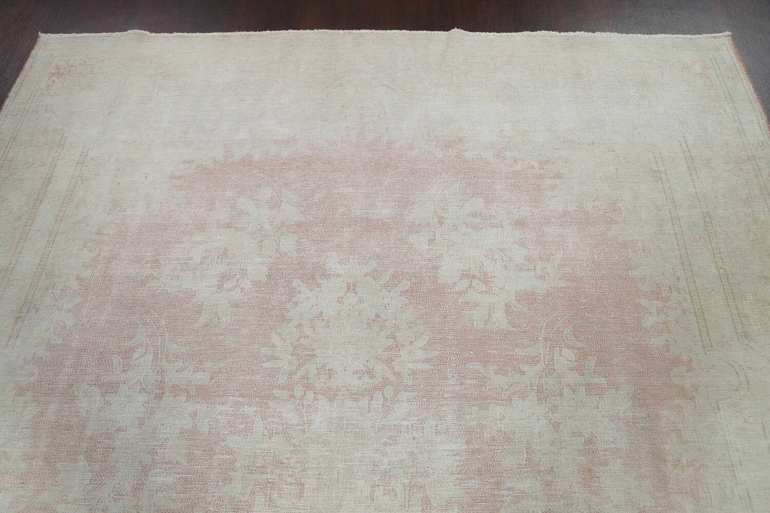 Antique Muted Distressed Kerman Persian Area Rug 8x11 image 9