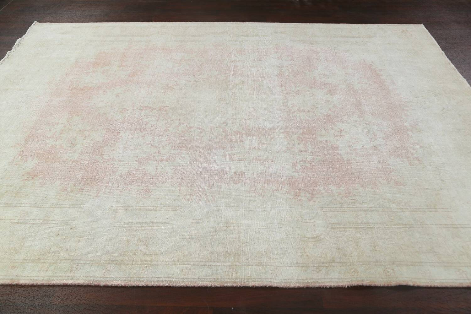Antique Muted Distressed Kerman Persian Area Rug 8x11 image 12