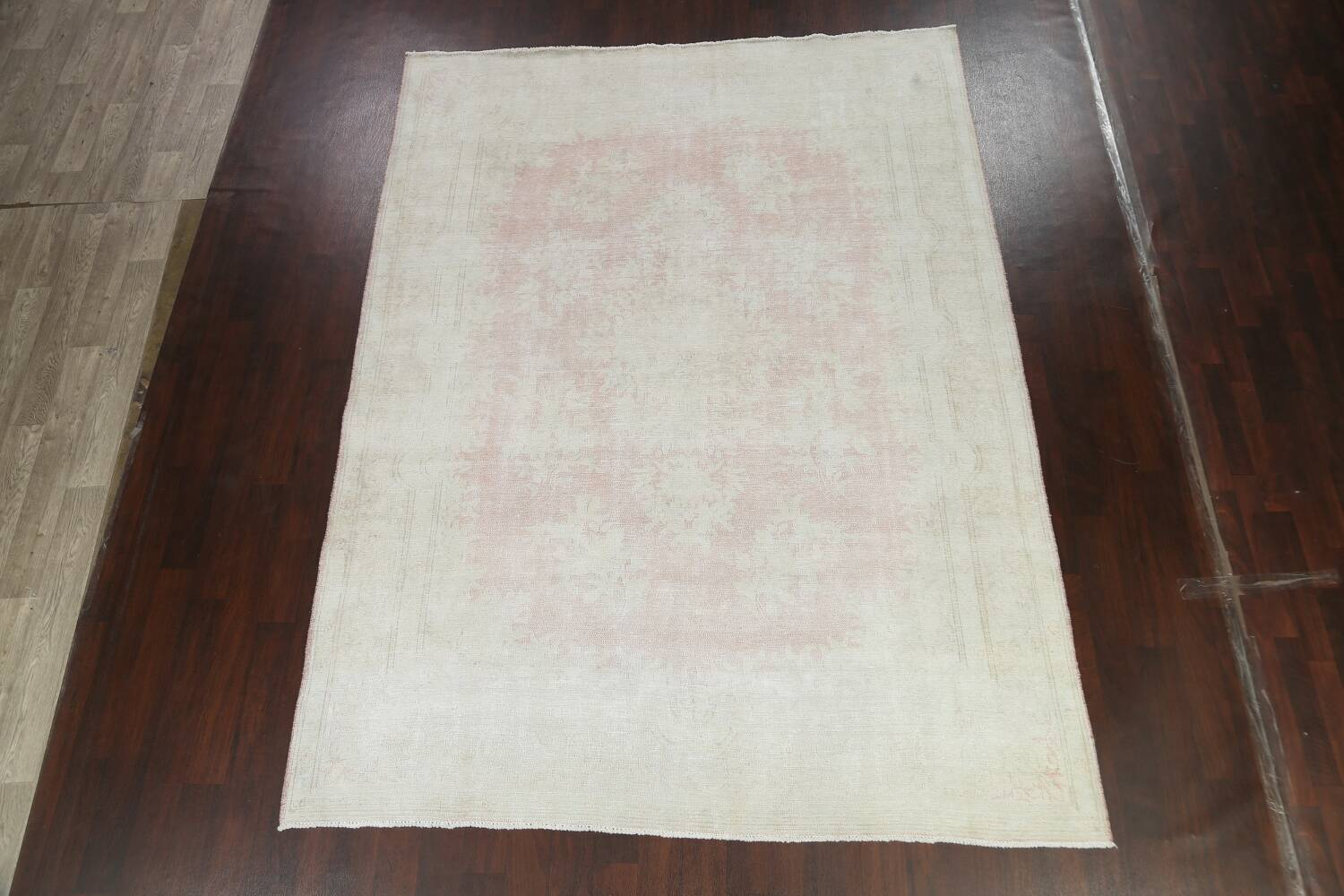 Antique Muted Distressed Kerman Persian Area Rug 8x11 image 13