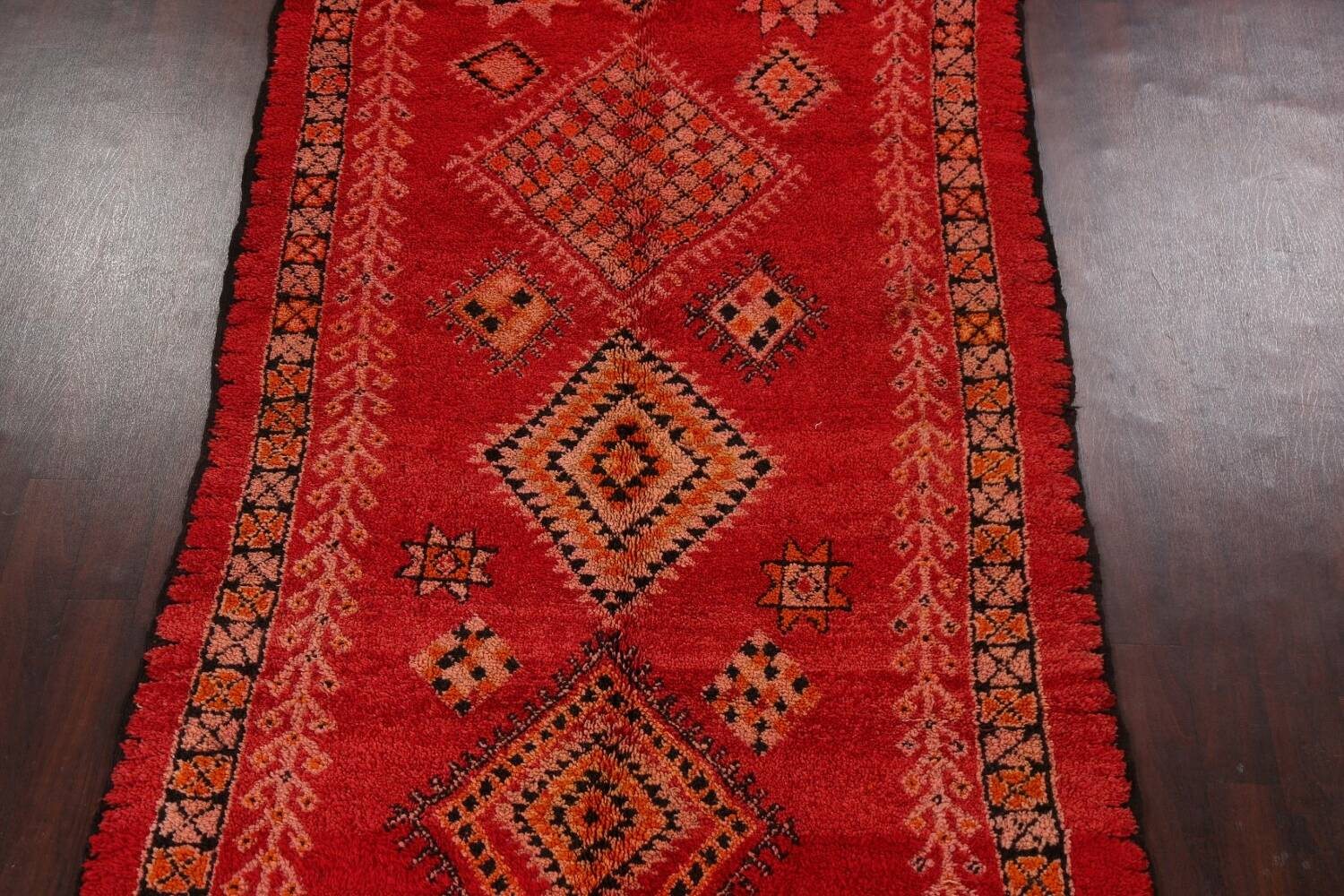 Red Moroccan Berber Area Rug 6x11 image 3