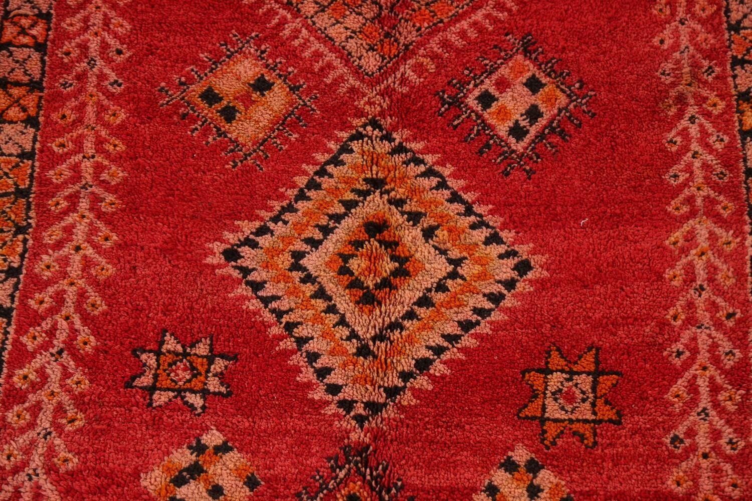 Red Moroccan Berber Area Rug 6x11 image 4