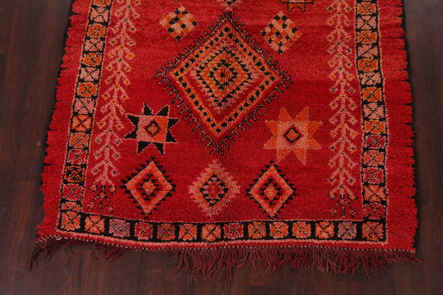 Red Moroccan Berber Area Rug 6x11 image 5