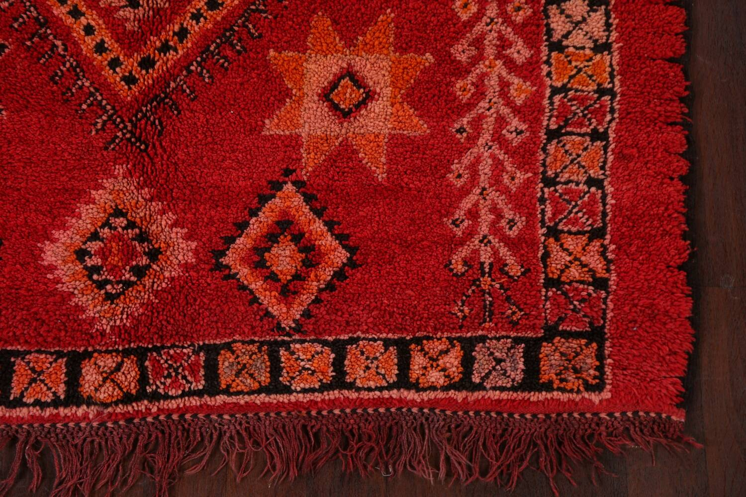 Red Moroccan Berber Area Rug 6x11 image 6