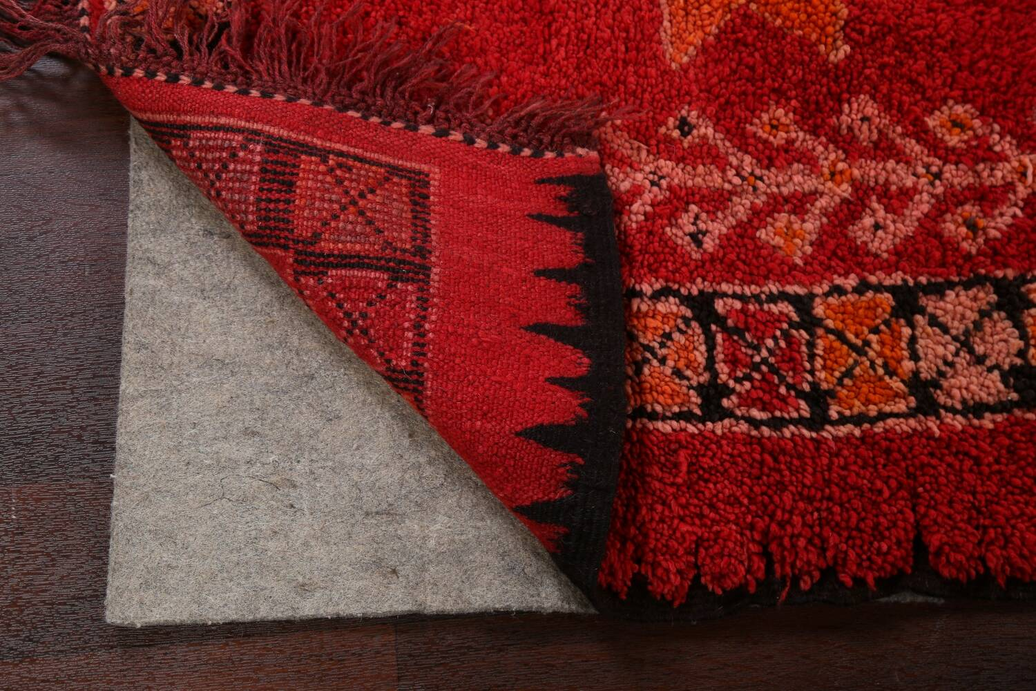 Red Moroccan Berber Area Rug 6x11 image 7