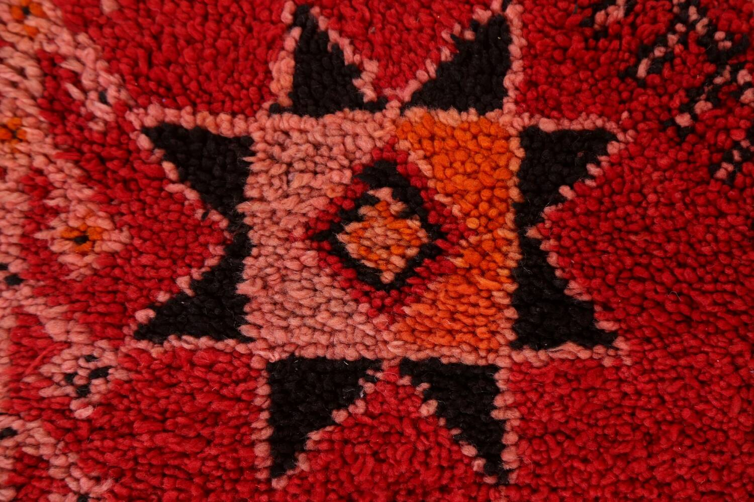 Red Moroccan Berber Area Rug 6x11 image 8