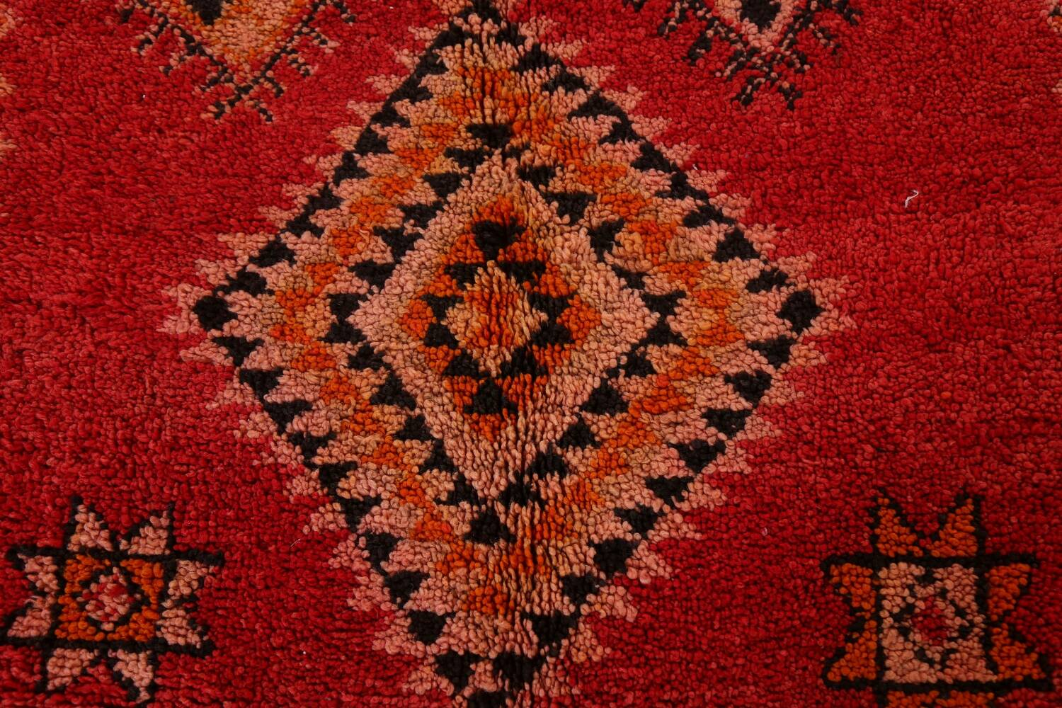 Red Moroccan Berber Area Rug 6x11 image 9