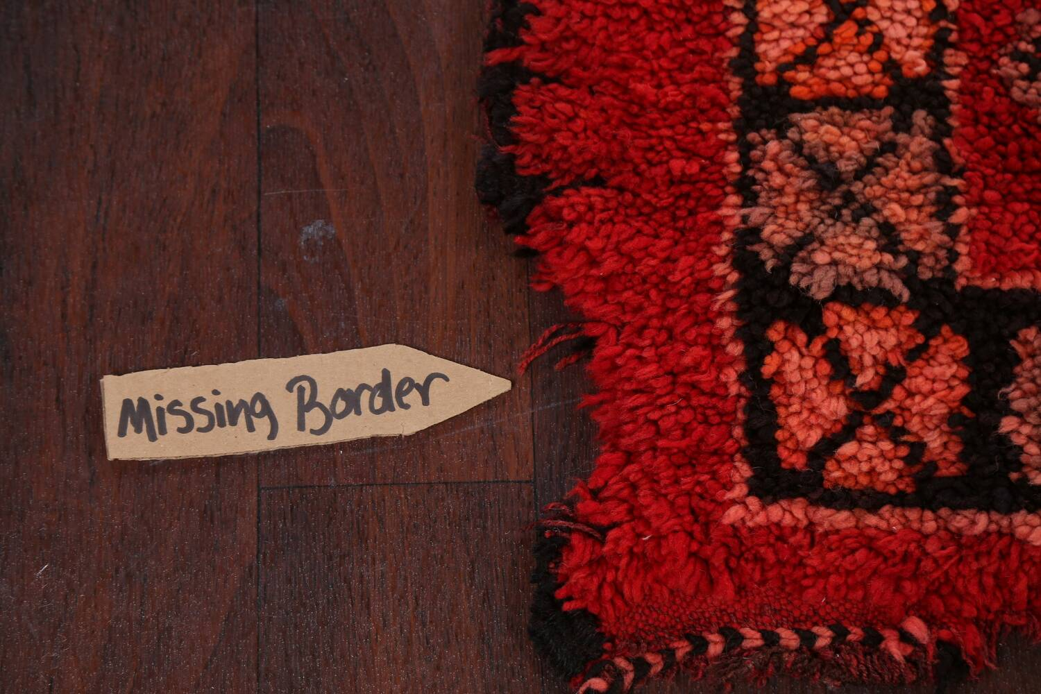 Red Moroccan Berber Area Rug 6x11 image 11