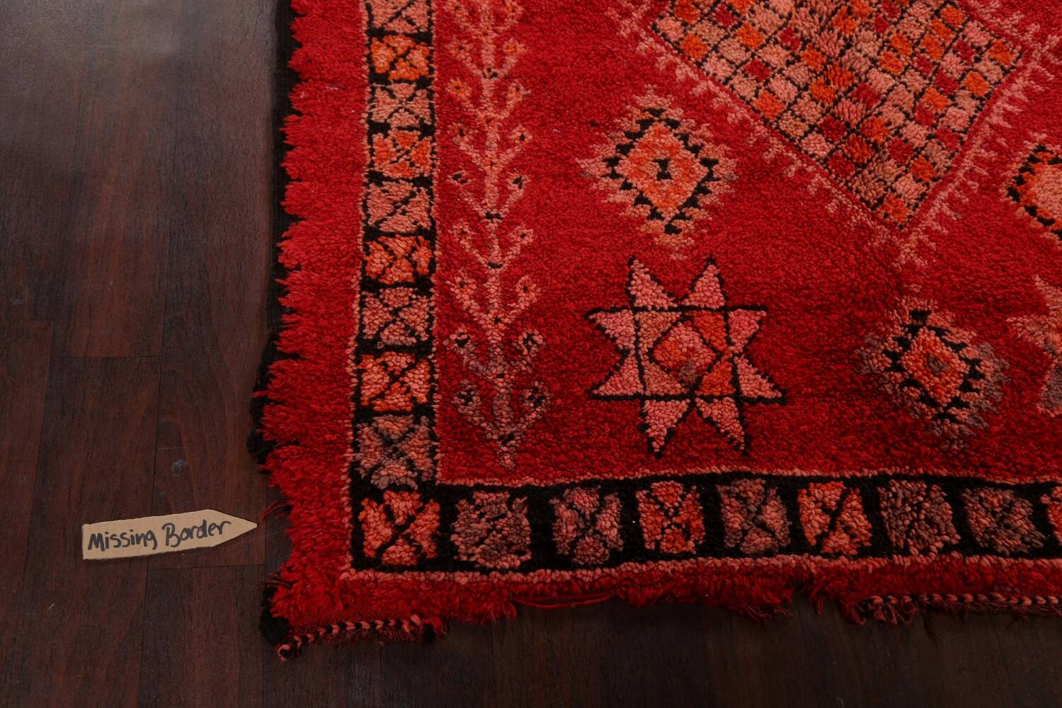 Red Moroccan Berber Area Rug 6x11 image 12
