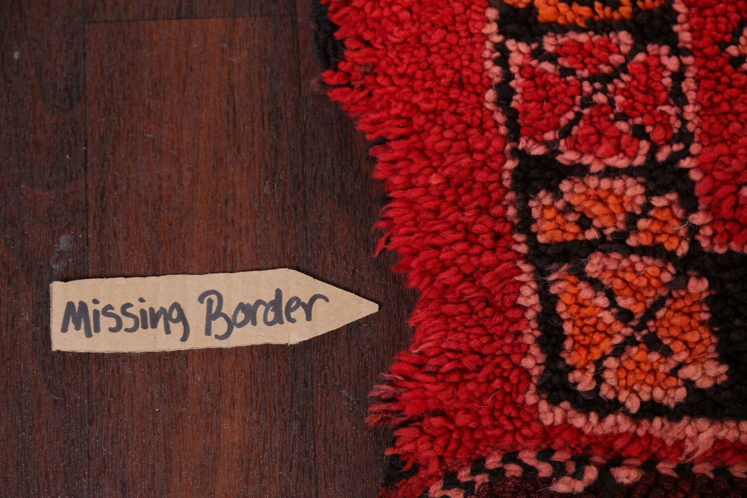 Red Moroccan Berber Area Rug 6x11 image 13