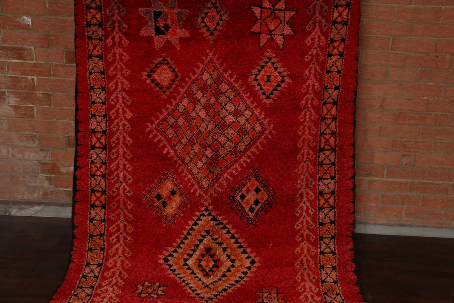 Red Moroccan Berber Area Rug 6x11 image 16