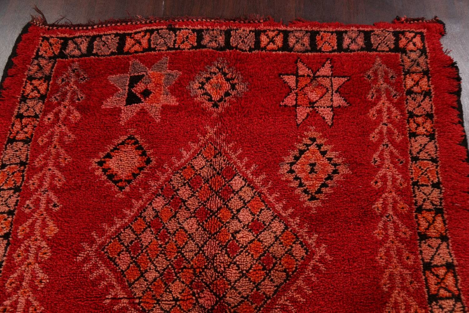Red Moroccan Berber Area Rug 6x11 image 17