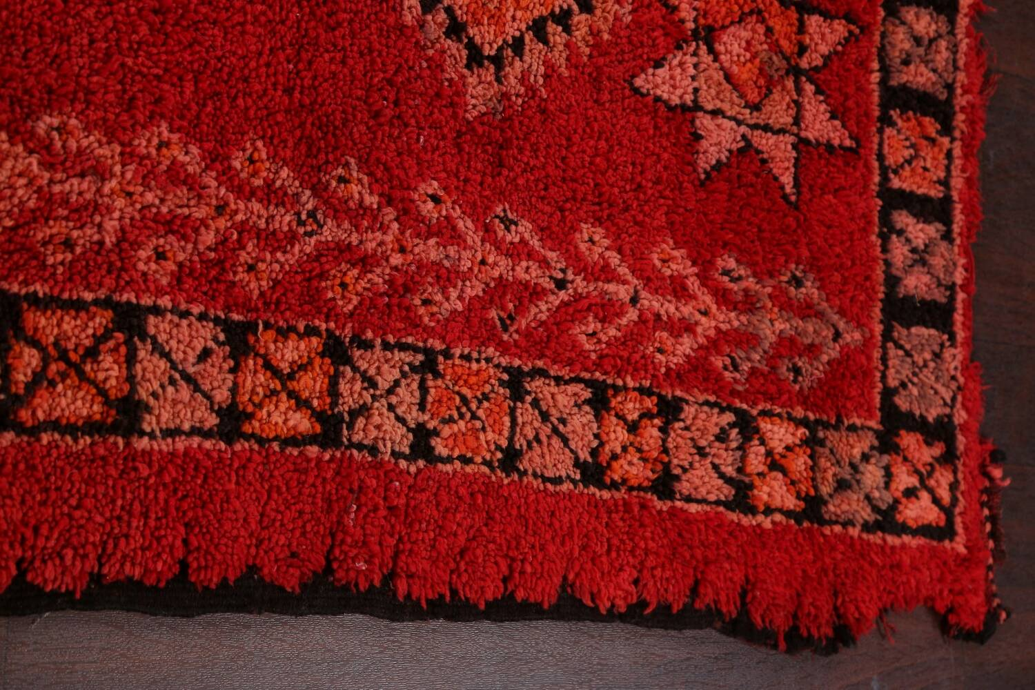 Red Moroccan Berber Area Rug 6x11 image 18