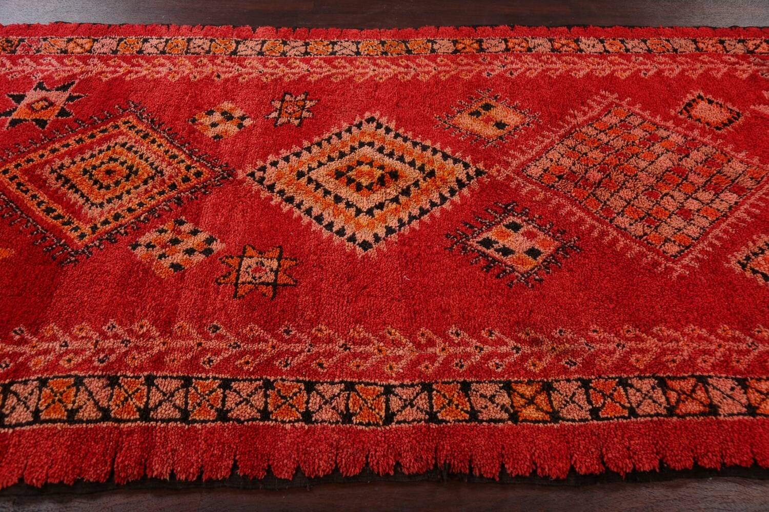 Red Moroccan Berber Area Rug 6x11 image 19
