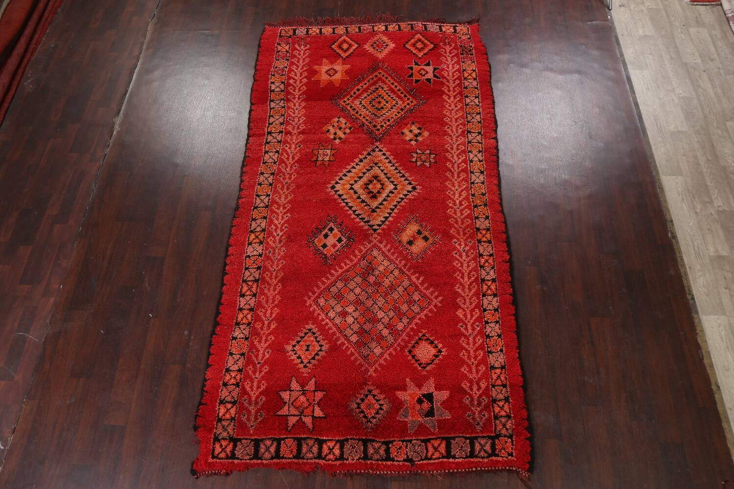 Red Moroccan Berber Area Rug 6x11 image 20