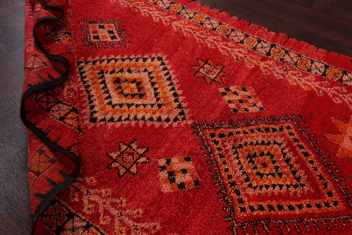 Red Moroccan Berber Area Rug 6x11 image 22
