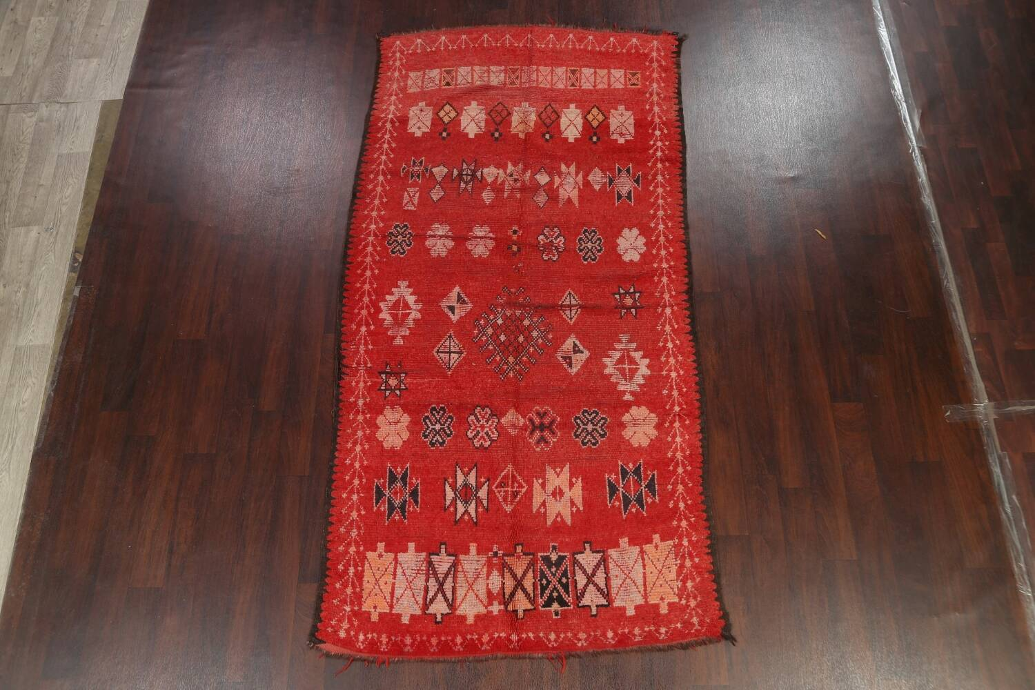 Antique Moroccan Wool Rug 5x10 image 2