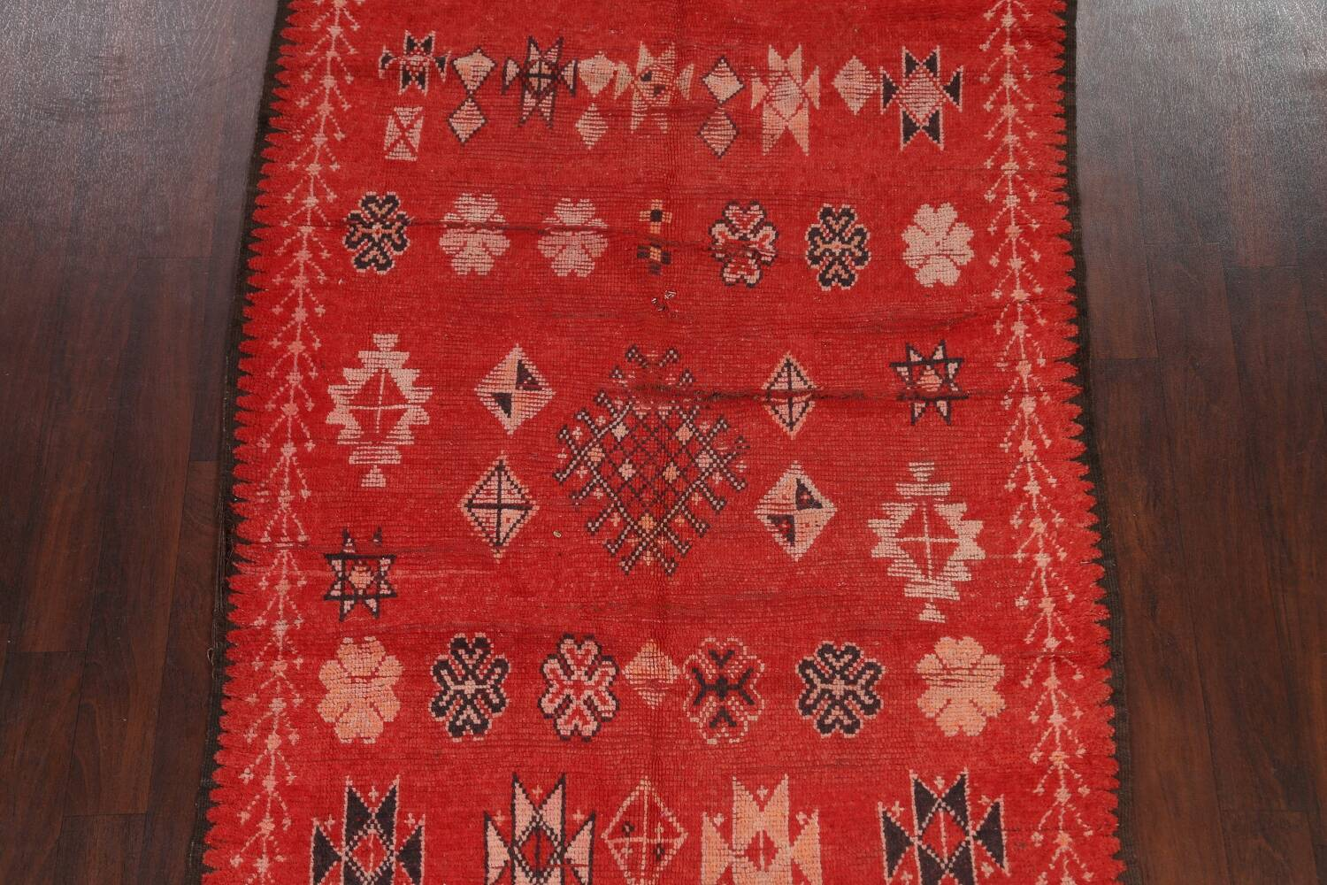 Antique Moroccan Wool Rug 5x10 image 3