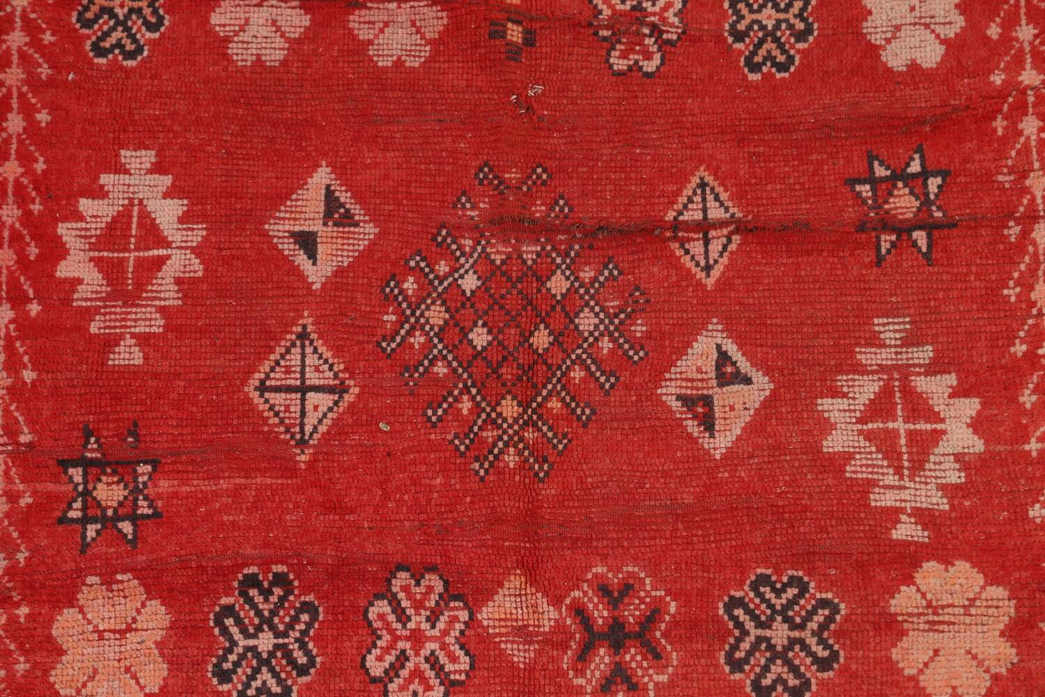 Antique Moroccan Wool Rug 5x10 image 4