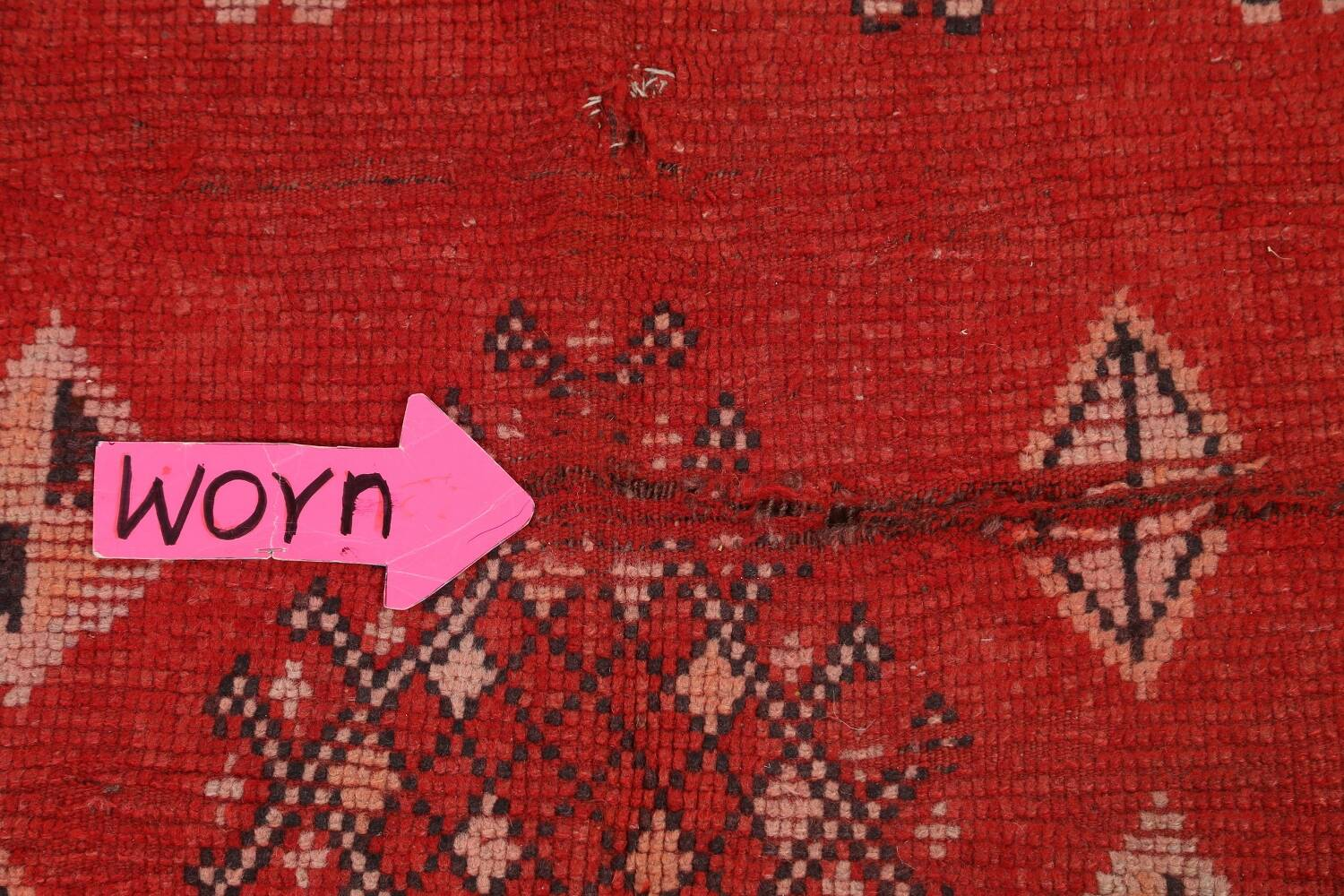 Antique Moroccan Wool Rug 5x10 image 9