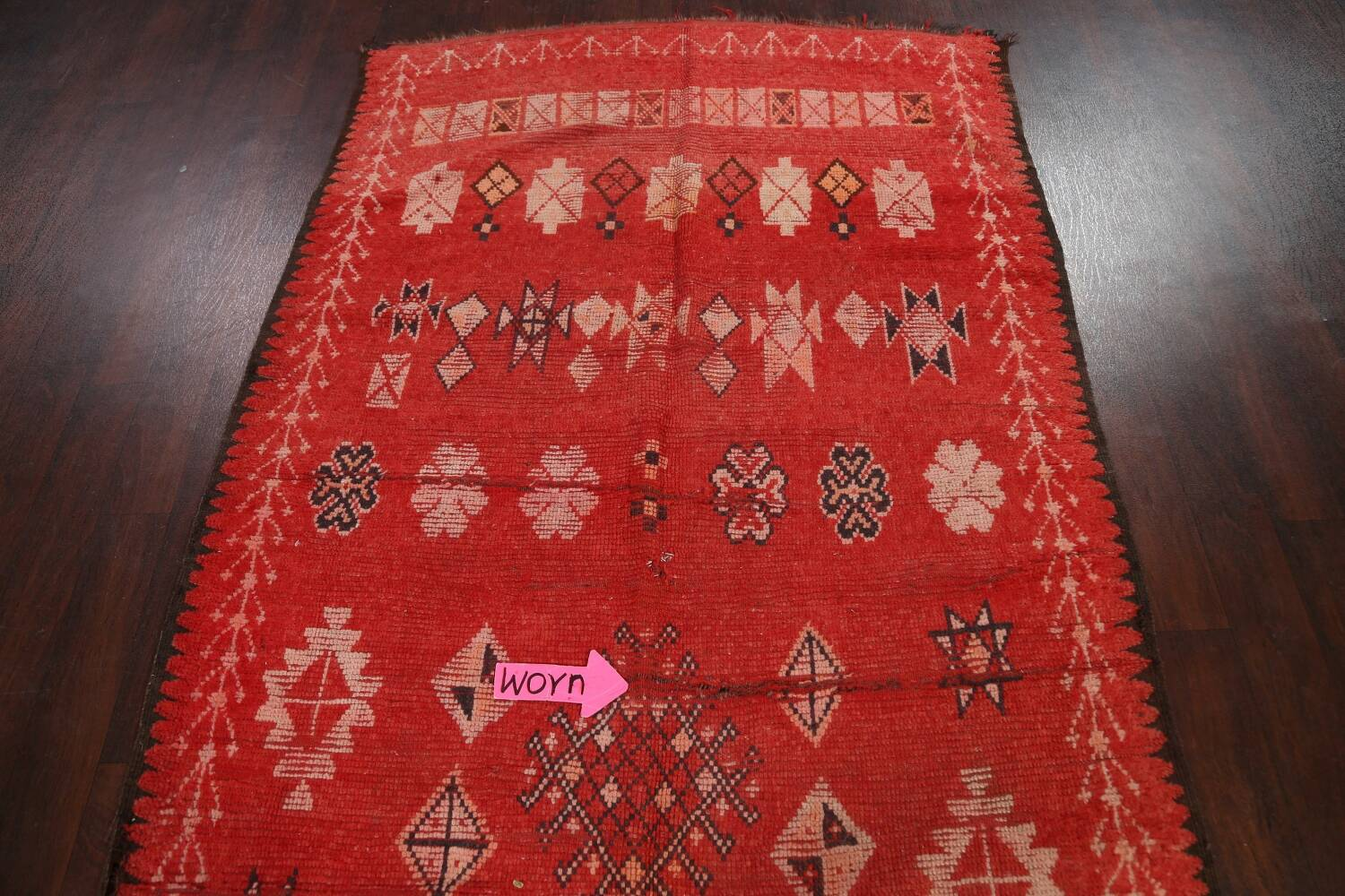 Antique Moroccan Wool Rug 5x10 image 10