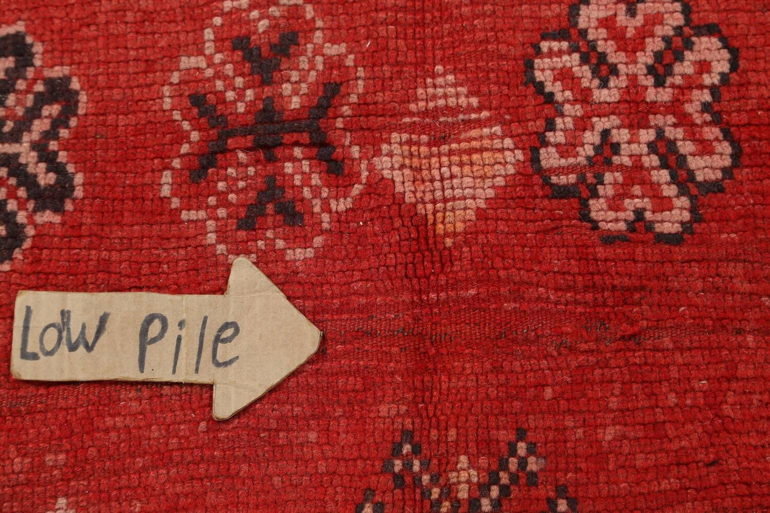 Antique Moroccan Wool Rug 5x10 image 11