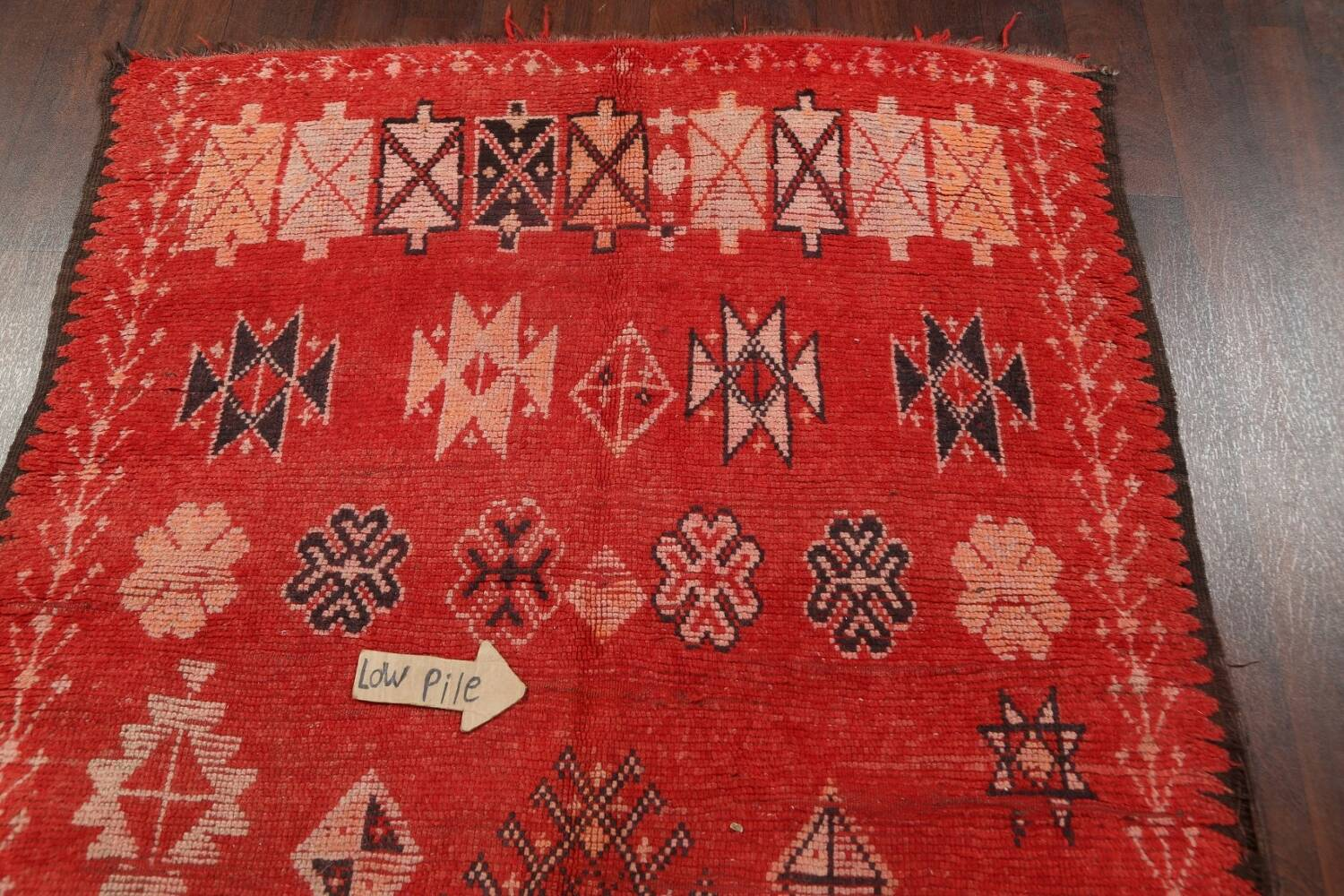 Antique Moroccan Wool Rug 5x10 image 12
