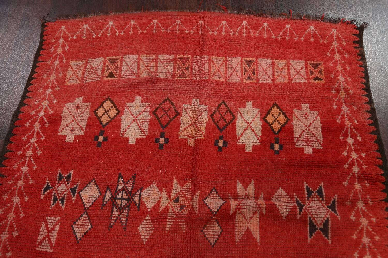 Antique Moroccan Wool Rug 5x10 image 13