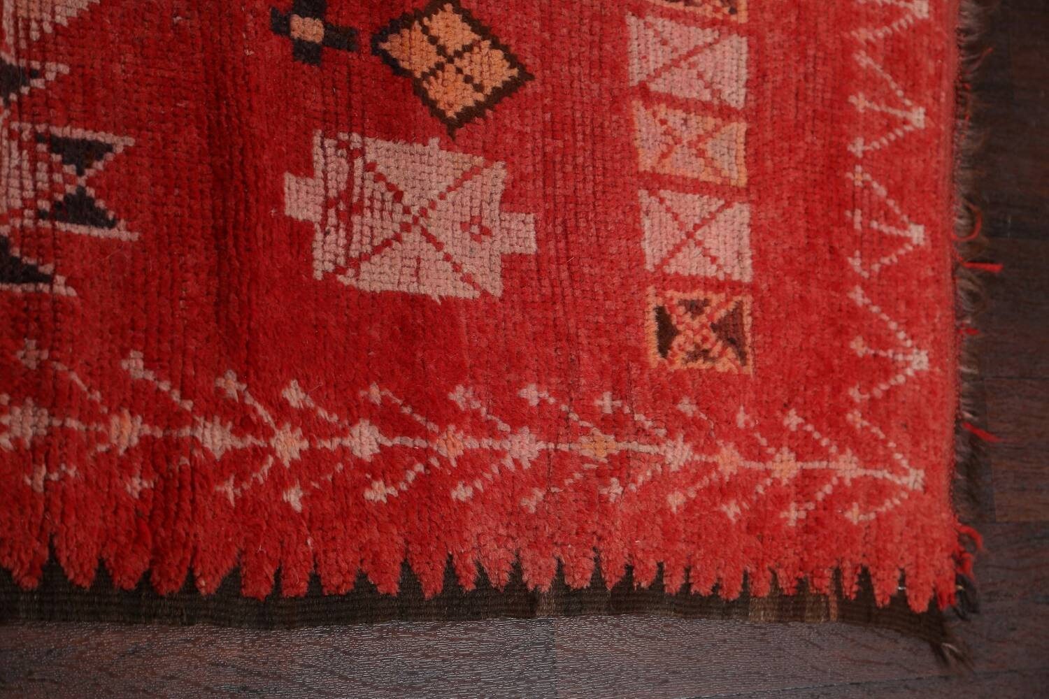 Antique Moroccan Wool Rug 5x10 image 14