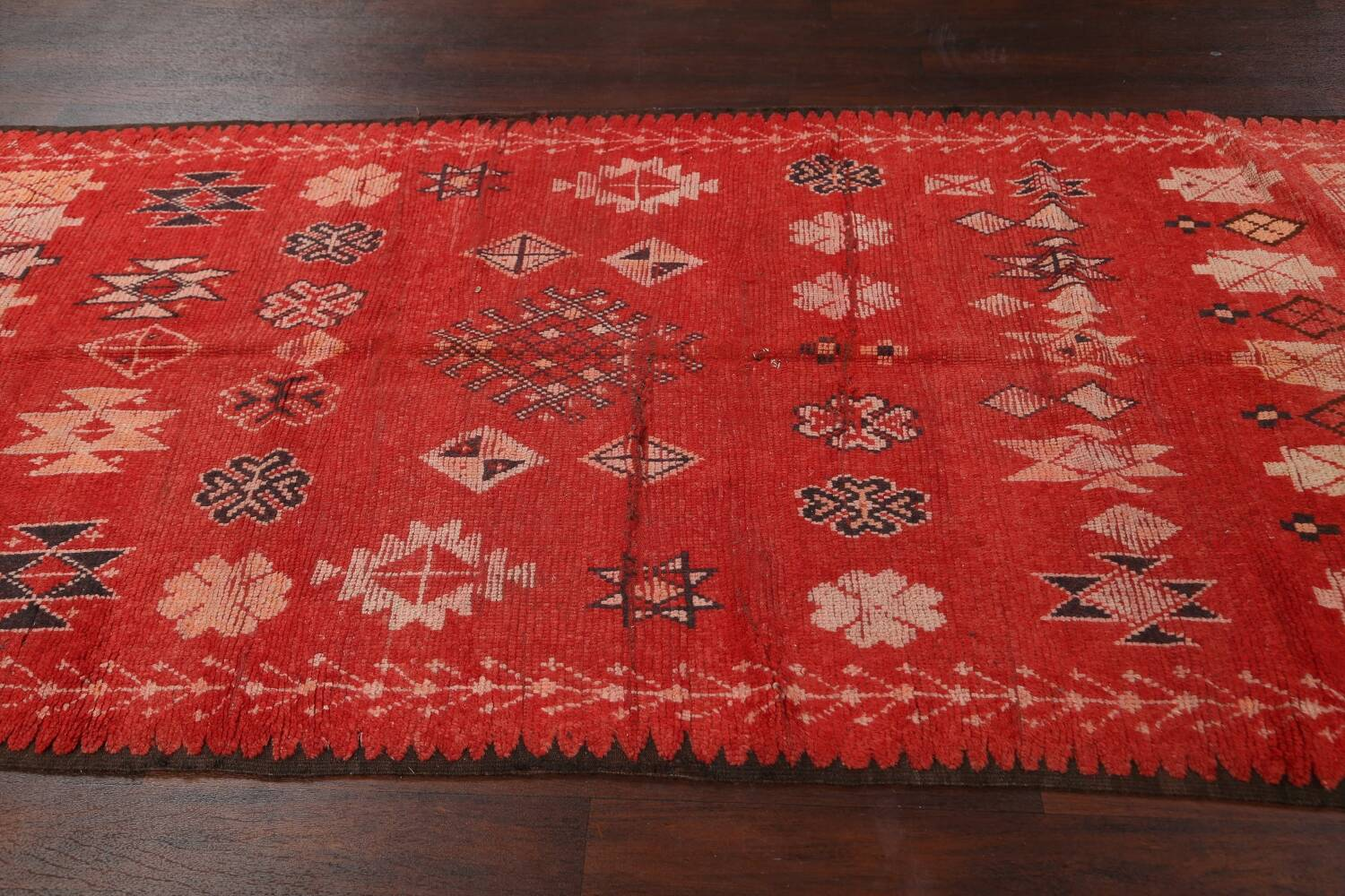 Antique Moroccan Wool Rug 5x10 image 16