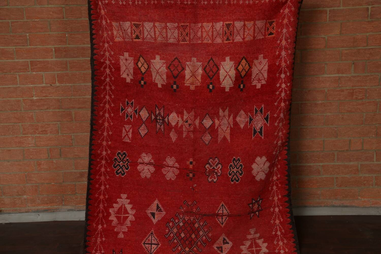 Antique Moroccan Wool Rug 5x10 image 17
