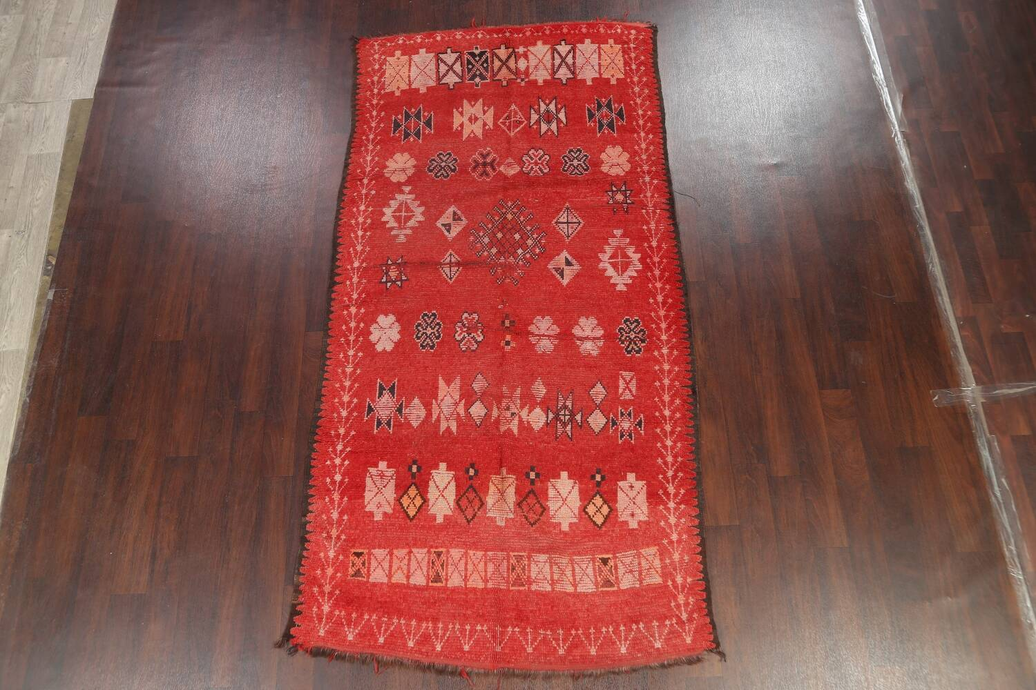 Antique Moroccan Wool Rug 5x10 image 18