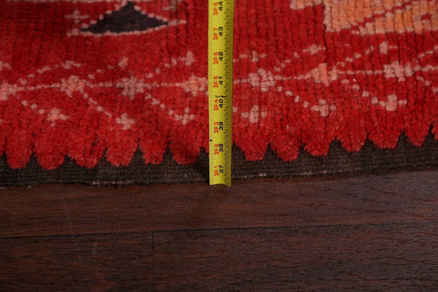 Antique Moroccan Wool Rug 5x10 image 21
