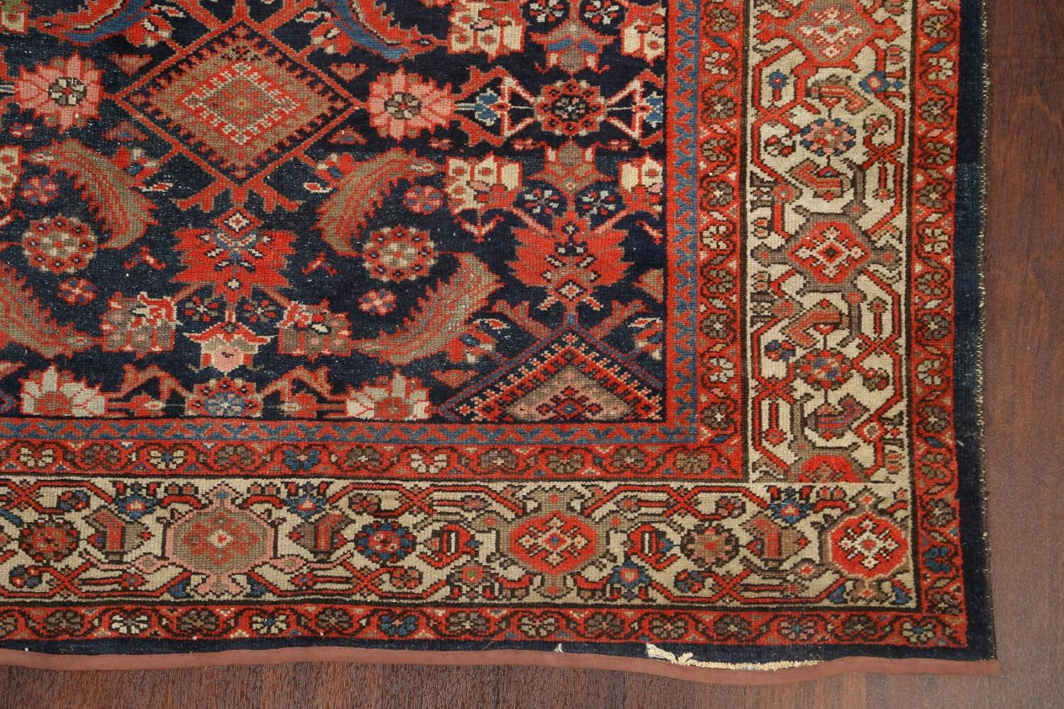 Pre-1900 Antique Vegetable Dye Malayer Persian Rug 5x12 image 6