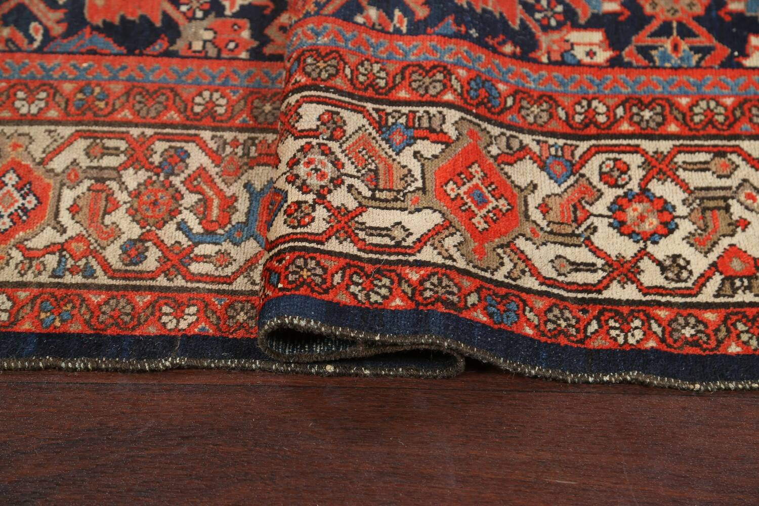 Pre-1900 Antique Vegetable Dye Malayer Persian Rug 5x12 image 10