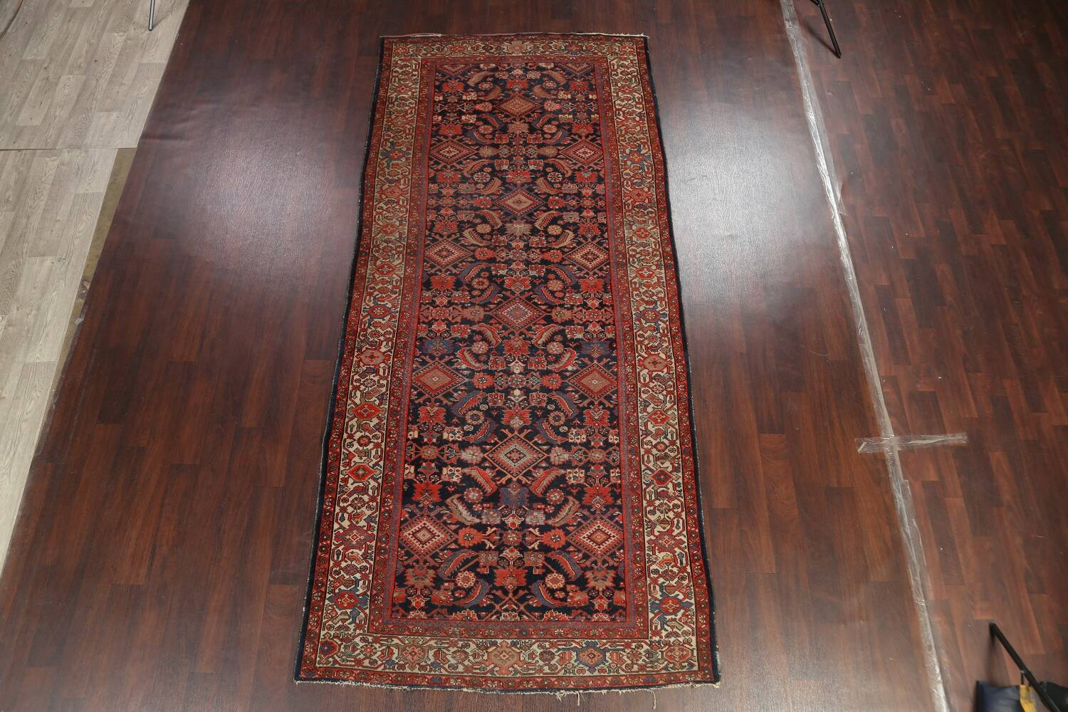 Pre-1900 Antique Vegetable Dye Malayer Persian Rug 5x12 image 12
