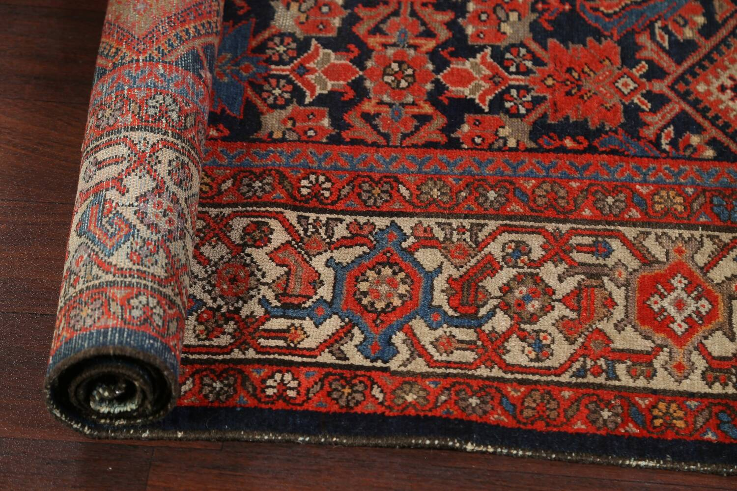 Pre-1900 Antique Vegetable Dye Malayer Persian Rug 5x12 image 13