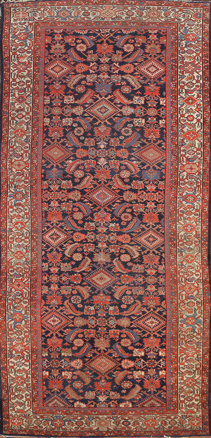 Pre-1900 Antique Vegetable Dye Malayer Persian Rug 5x12 image 1