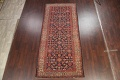 Pre-1900 Antique Vegetable Dye Malayer Persian Rug 5x12 image 2