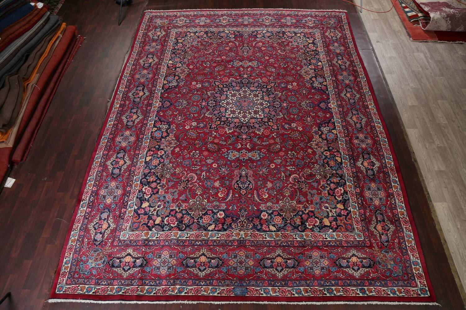 Antique Vegetable Dye Mood Persian Red Rug 11x15 image 2