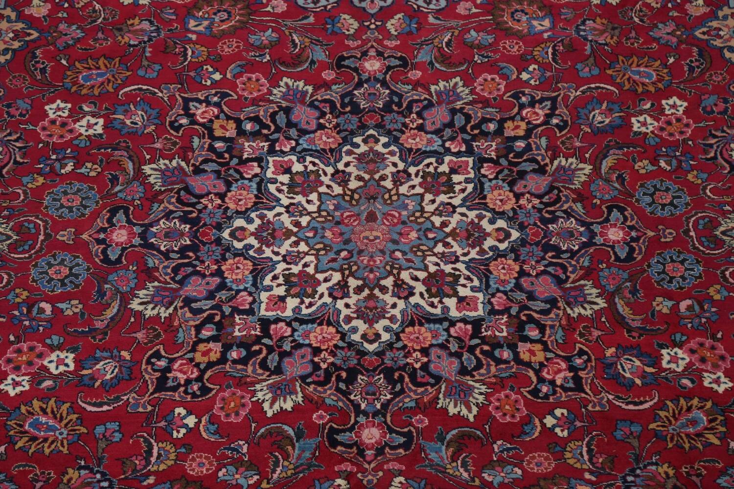 Antique Vegetable Dye Mood Persian Red Rug 11x15 image 4