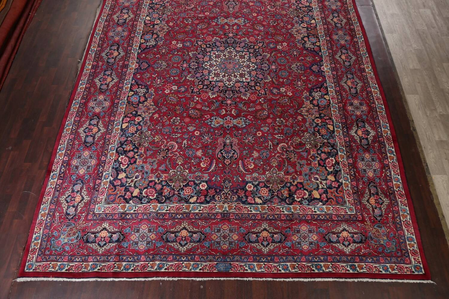 Antique Vegetable Dye Mood Persian Red Rug 11x15 image 5