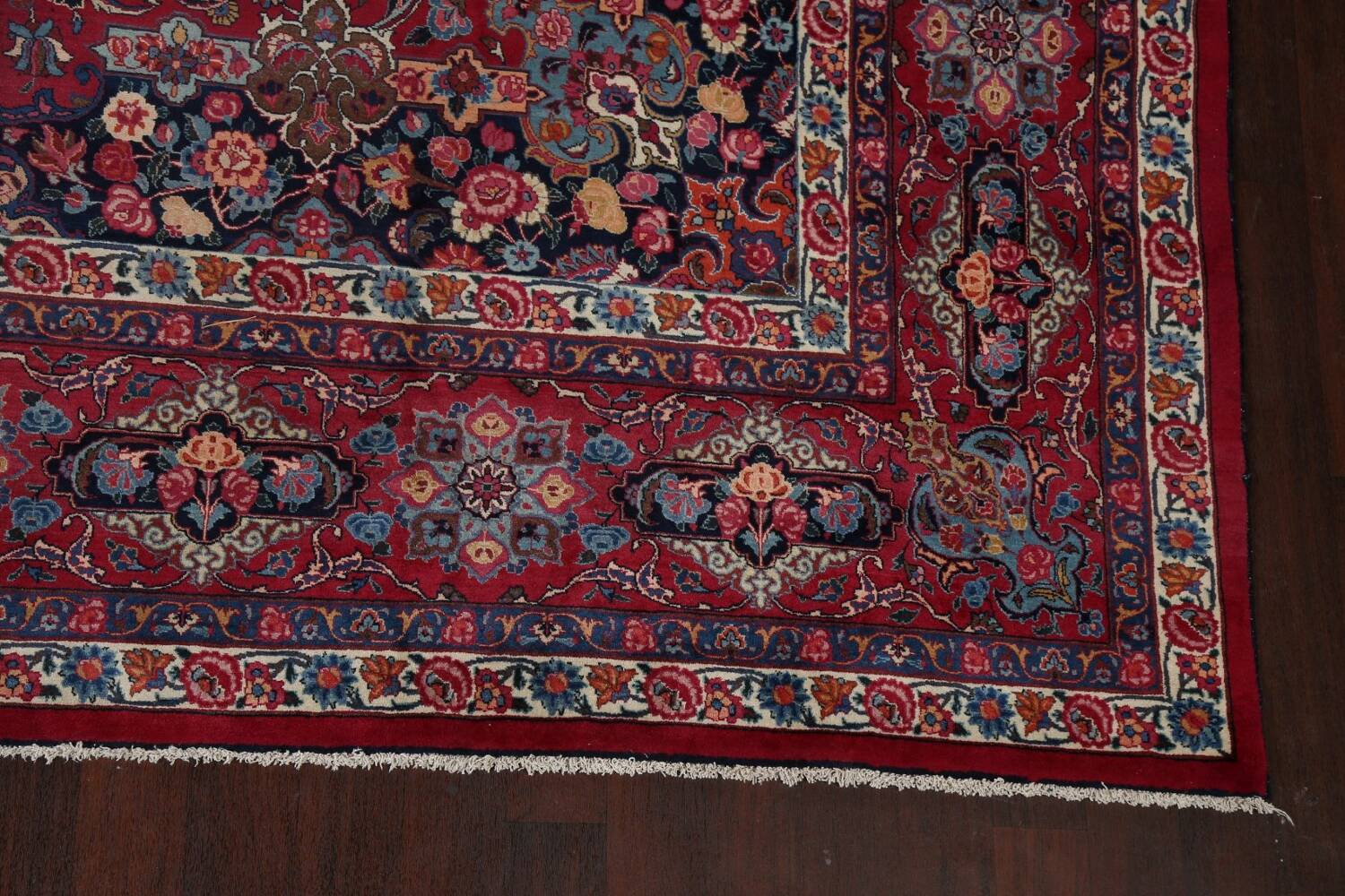 Antique Vegetable Dye Mood Persian Red Rug 11x15 image 6