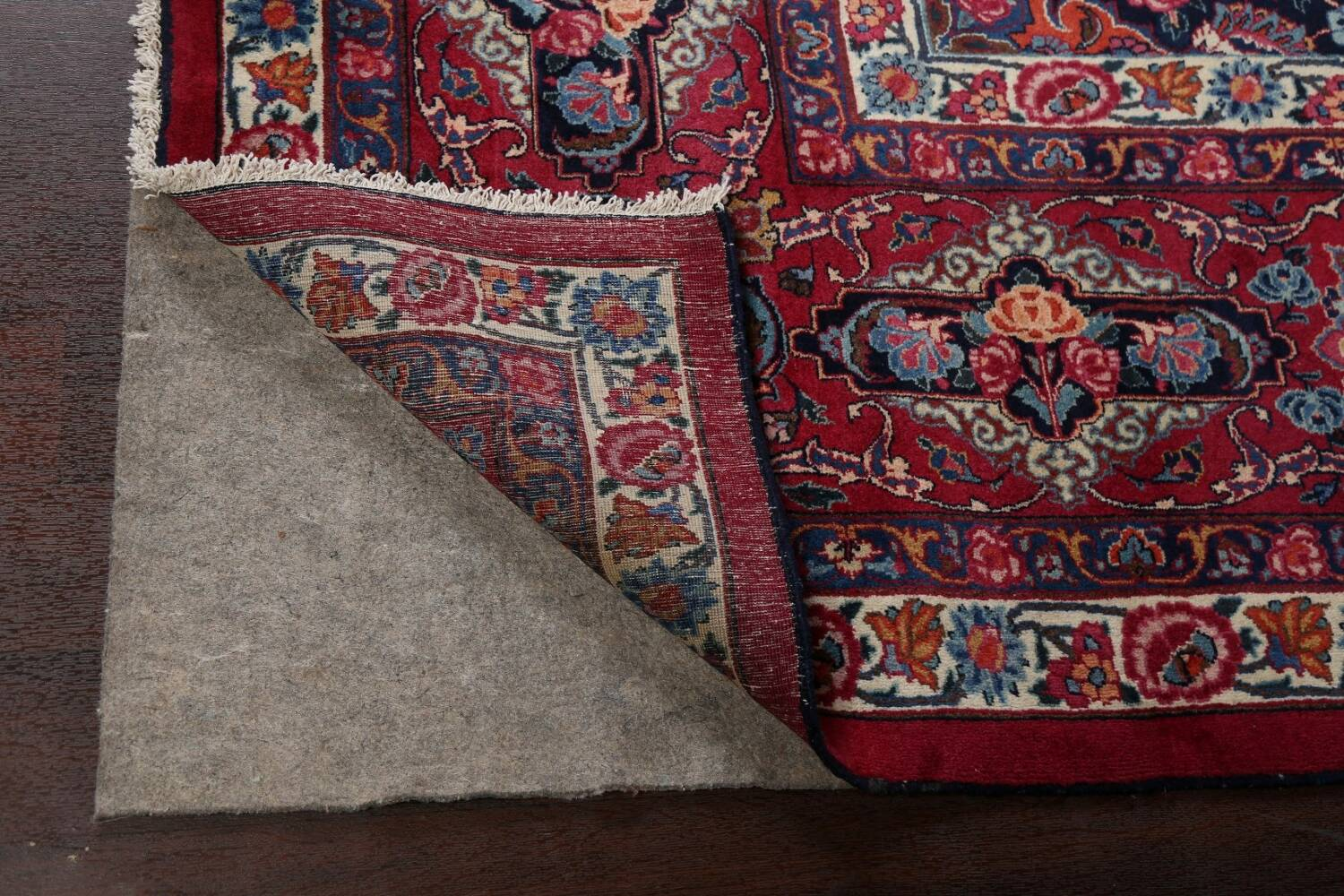 Antique Vegetable Dye Mood Persian Red Rug 11x15 image 7