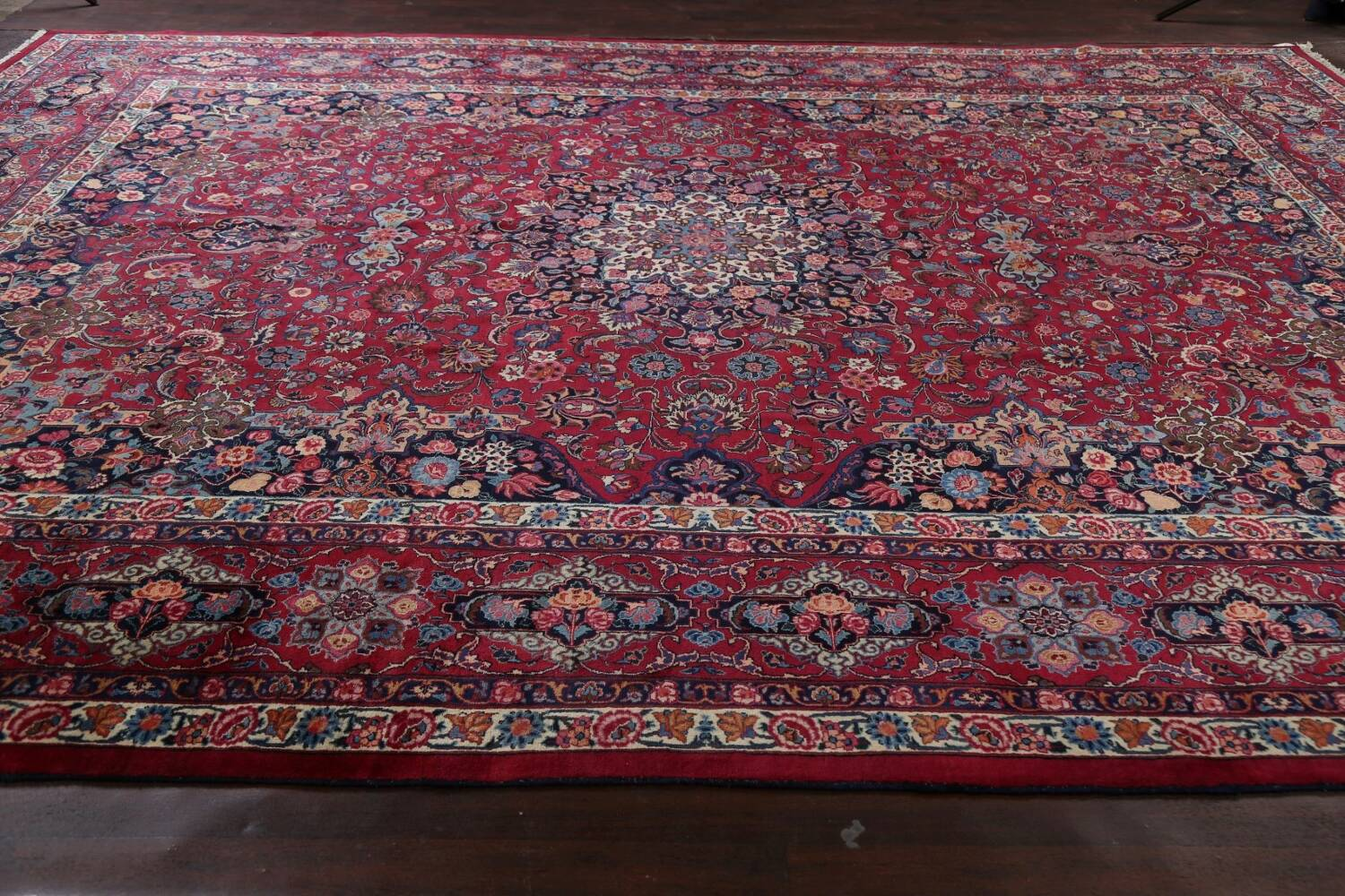 Antique Vegetable Dye Mood Persian Red Rug 11x15 image 15